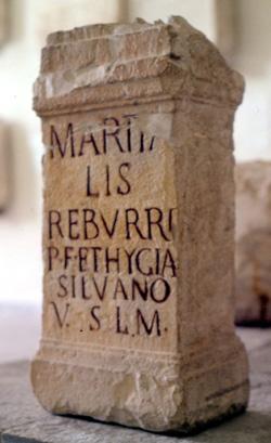 Ara sacra dedicata al dio Silvano da Marziale Reburro, Almè, II sec. d.C.(?)