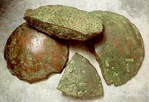 Lingotti di bronzo dal ripostiglio di un fonditore, Parre, inizi V sec. a.C..